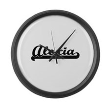 Alexia Classic Retro Name Design Large Wall Clock
