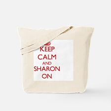Keep Calm and Sharon ON Tote Bag