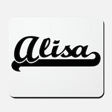 Alisa Classic Retro Name Design Mousepad