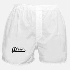 Alisa Classic Retro Name Design Boxer Shorts
