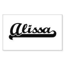 Alissa Classic Retro Name Design Decal