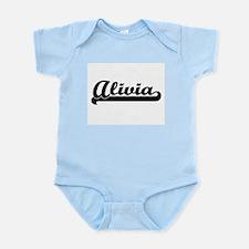 Alivia Classic Retro Name Design Body Suit