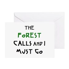 forest calls Greeting Card