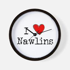I Love NAWLINS Wall Clock