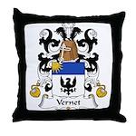 Vernet Family Crest Throw Pillow