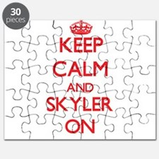 Keep Calm and Skyler ON Puzzle