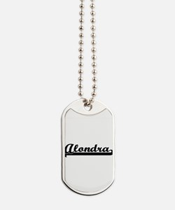Alondra Classic Retro Name Design Dog Tags