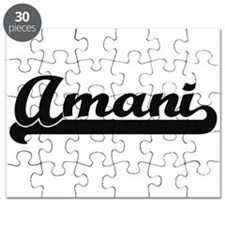 Amani Classic Retro Name Design Puzzle