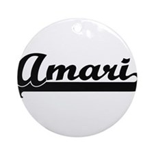 Amari Classic Retro Name Design Ornament (Round)