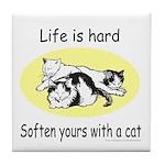 LIFE IS HARD Tile Coaster