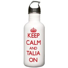 Keep Calm and Talia ON Water Bottle