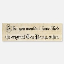 Original Tea Party (bumper sticker) Bumper Bumper Bumper Sticker