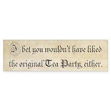 Original Tea Party (bumper sticker) Bumper Bumper Sticker