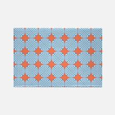 Blue Orange Circle Pattern Magnets