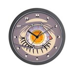 Working Orange Wall Clock