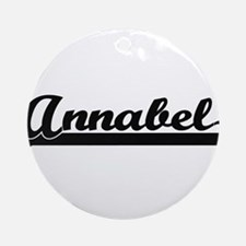 Annabel Classic Retro Name Design Ornament (Round)