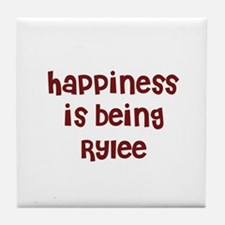 happiness is being Rylee Tile Coaster