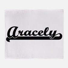 Aracely Classic Retro Name Design Throw Blanket