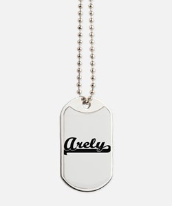 Arely Classic Retro Name Design Dog Tags