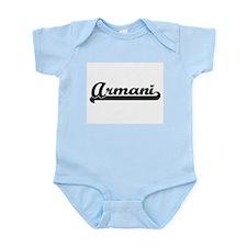 Armani Classic Retro Name Design Body Suit