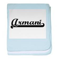 Armani Classic Retro Name Design baby blanket