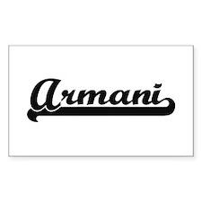 Armani Classic Retro Name Design Decal