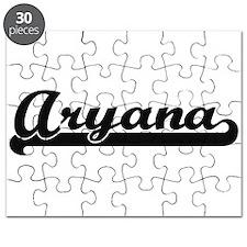 Aryana Classic Retro Name Design Puzzle