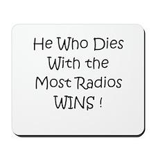 Most Radios Wins! Mousepad