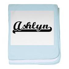 Ashlyn Classic Retro Name Design baby blanket