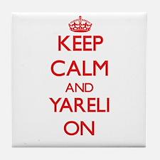 Keep Calm and Yareli ON Tile Coaster