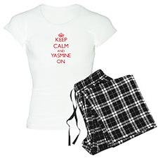 Keep Calm and Yasmine ON pajamas