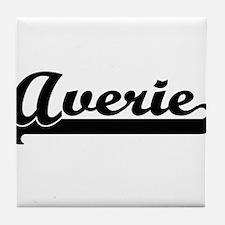 Averie Classic Retro Name Design Tile Coaster