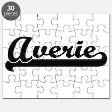 Averie Classic Retro Name Design Puzzle