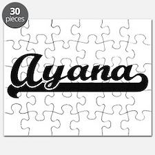 Ayana Classic Retro Name Design Puzzle