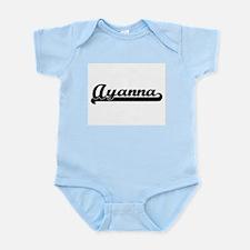 Ayanna Classic Retro Name Design Body Suit