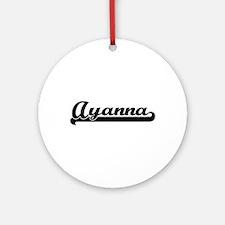Ayanna Classic Retro Name Design Ornament (Round)