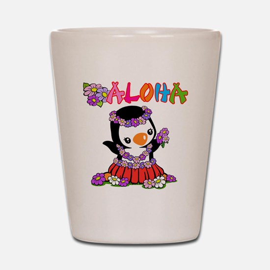 Aloha Penguin (6) Shot Glass