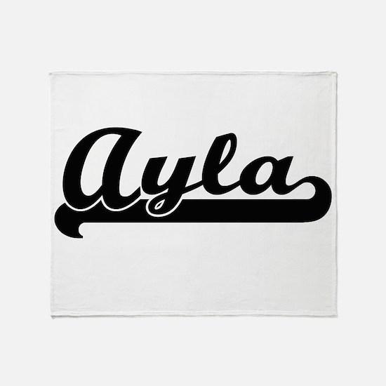 Ayla Classic Retro Name Design Throw Blanket