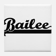 Bailee Classic Retro Name Design Tile Coaster
