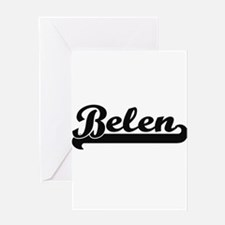 Belen Classic Retro Name Design Greeting Cards