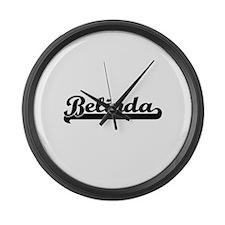 Belinda Classic Retro Name Design Large Wall Clock