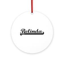 Belinda Classic Retro Name Design Ornament (Round)