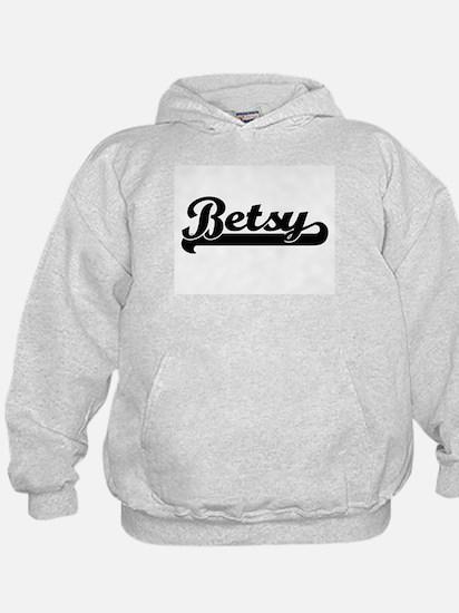 Betsy Classic Retro Name Design Hoodie