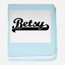 Betsy Classic Retro Name Design baby blanket
