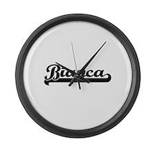 Bianca Classic Retro Name Design Large Wall Clock