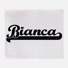 Bianca Classic Retro Name Design Throw Blanket