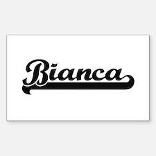 Bianca Classic Retro Name Design Decal