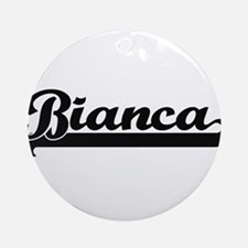Bianca Classic Retro Name Design Ornament (Round)