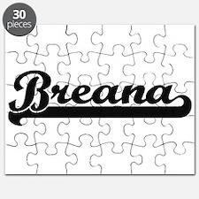 Breana Classic Retro Name Design Puzzle