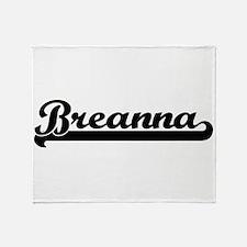 Breanna Classic Retro Name Design Throw Blanket